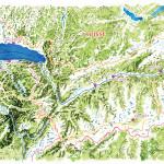 puzzle du bassin versant du lac Léman