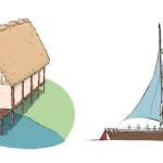 maison palafitte & voilier