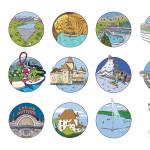 puzzle du bassin versant du lac Léman : les lieux